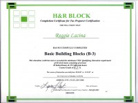 H&R Block_ State And Federal Income Tax Certification_Nov 2007