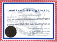 USA Truck Driving School Diploma